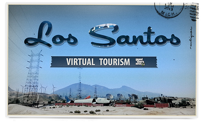 Francois Soulignac - Postcards from virtual worlds - Virtual Vintage Postcards from Virtual tourism - GTA 5