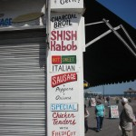 New York Shop sign menu at Coney Island