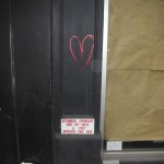 New York Street art at Manhattan - Little red heart