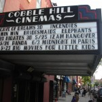 Cobble hill cinemas front with cave of dreams 3d, incendies, Win Win, bridesmaids, elephants, pirates and angover