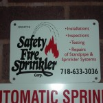 Fireman sign : Safety Fire Sprinkler