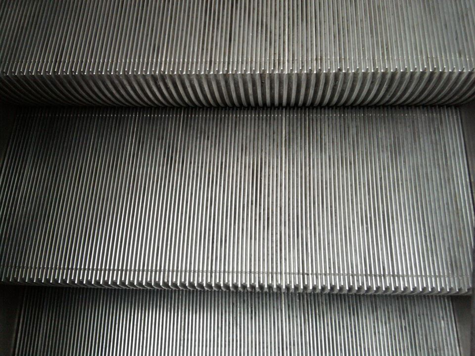 Design from Paris, Marches métal escalator metro step subway