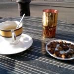 Paris Design, Table café terrasse Café thé à la menthe oriental métro Belleville