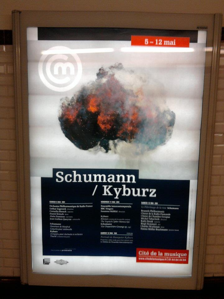 Paris Graphic Design | Affiche Cité de la musique - Schumann / Kyburz Cover