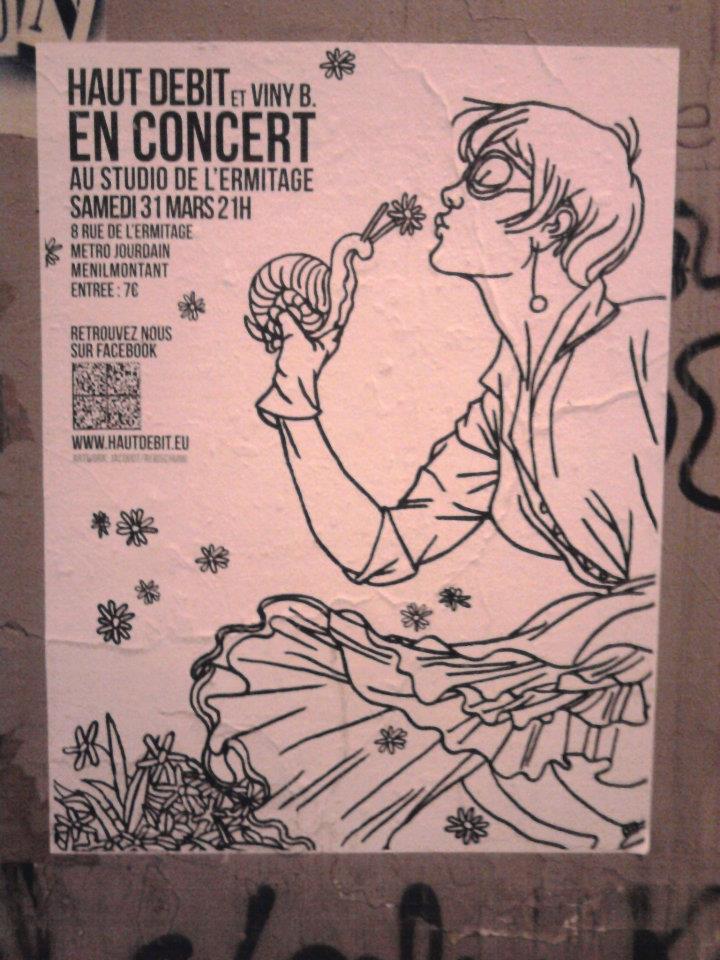 Paris Graphic Design | Affiche Haut Débit et Viny B. mars 2012 - Studio de l'Ermitage Cover