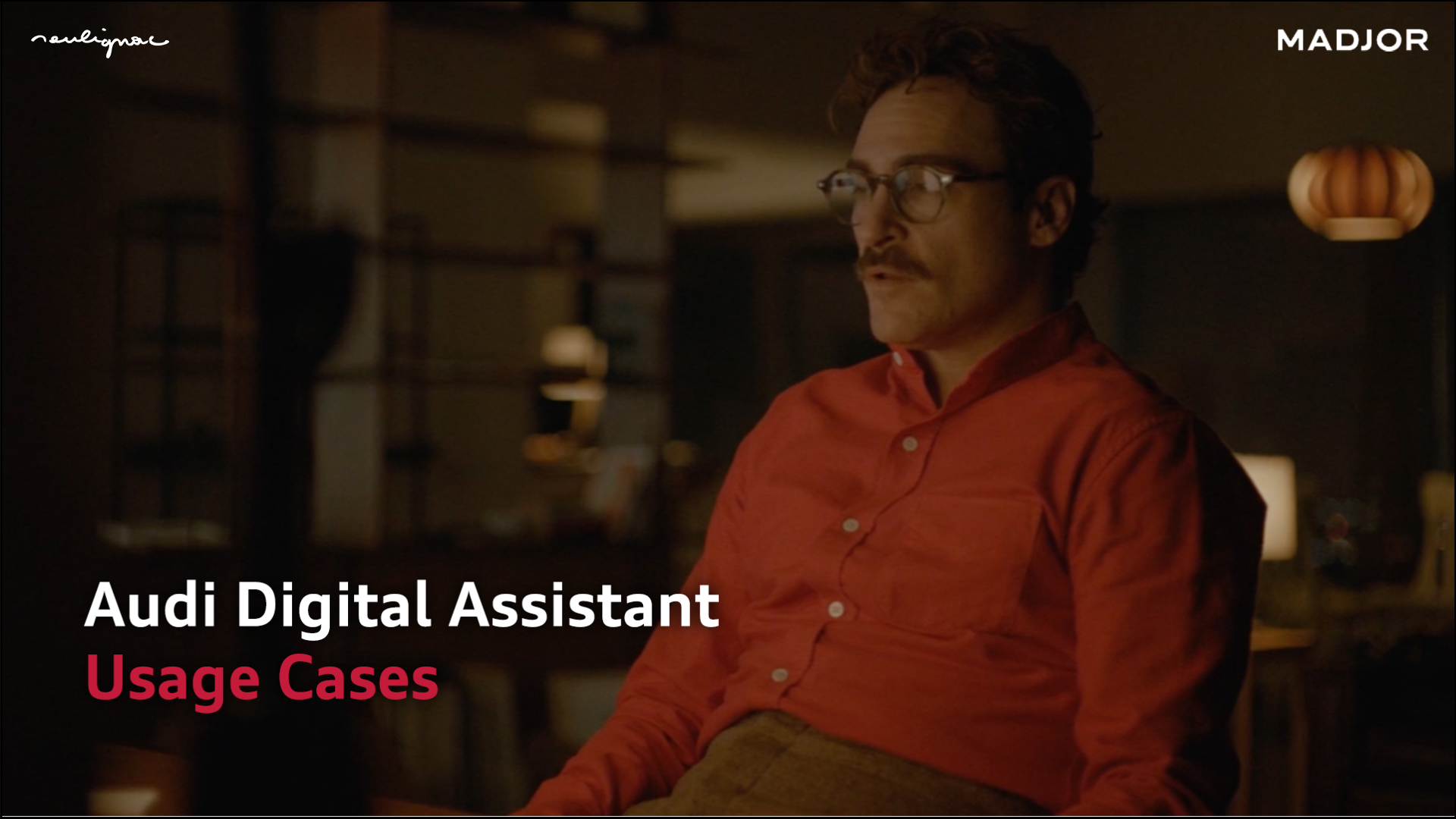 Audi China - Digital Assistant Researches - Art direction for video storyboard summarizing the researches - Francois Soulignac, MADJOR Labbrand Shanghai, China - PHOTO: Joaquin Phoenix in HER, directed by Spike Jonze