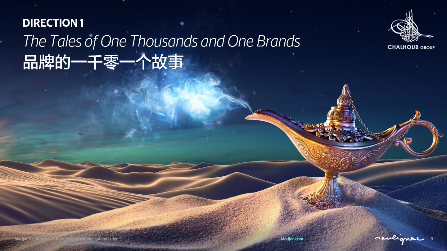 Chalhoub Group Dubai - China campaign - Tales of One Thousand and One brands - Francois Soulignac - MADJOR Labbrand Shanghai