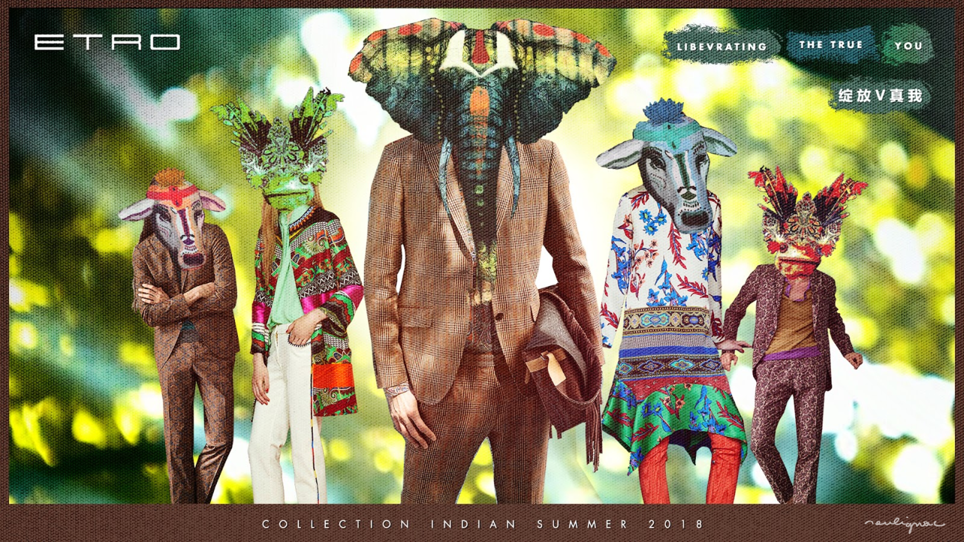 Etro China - Digital Summer Campaign, Key visual mockup - Francois Soulignac - Creative & Art Direction - Labbrand Madjor Shanghai, China