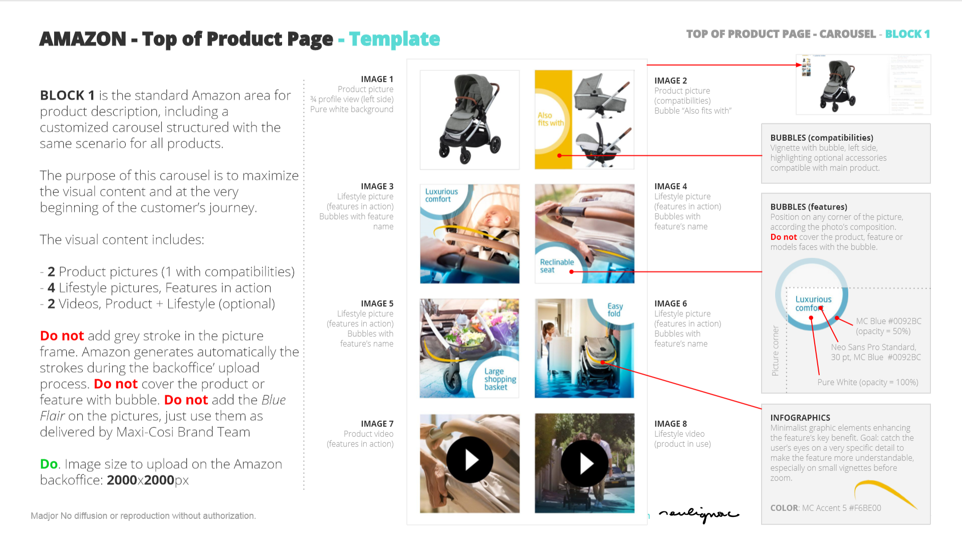 Maxi-Cosi China - Dorel Juvenile - Digital Guidelines - AMAZON Product page - Francois Soulignac, Documents  & Art Direction - MADJOR Labbrand Shanghai, China