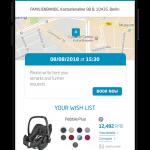 Maxi-Cosi China - Dorel Juvenile - UI Design prototyping APPOINTMENTS - Francois Soulignac, MADJOR Labbrand Shanghai