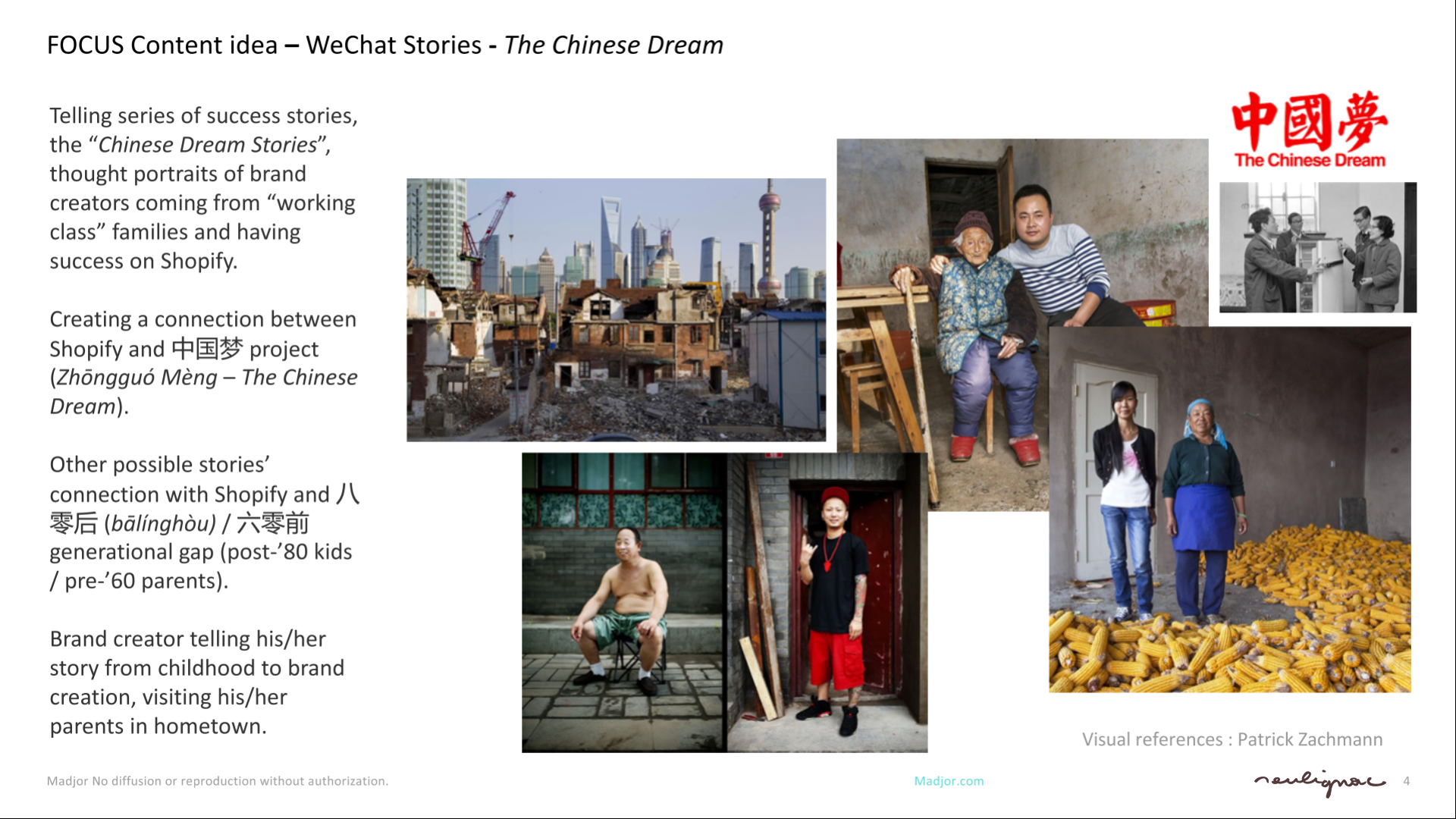 Shopify China - Social Content Creation - THE CHINESE DREAM - Francois Soulignac - Digital Creative & Art Direction - MADJOR Labbrand Shanghai, China