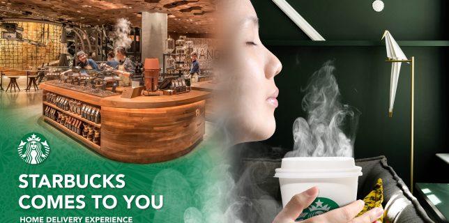 Starbucks Coffee China - Delivery Campaign - Key visual mockup - Francois Soulignac - Digital Creative & Art Direction - MADJOR Labbrand Shanghai, China