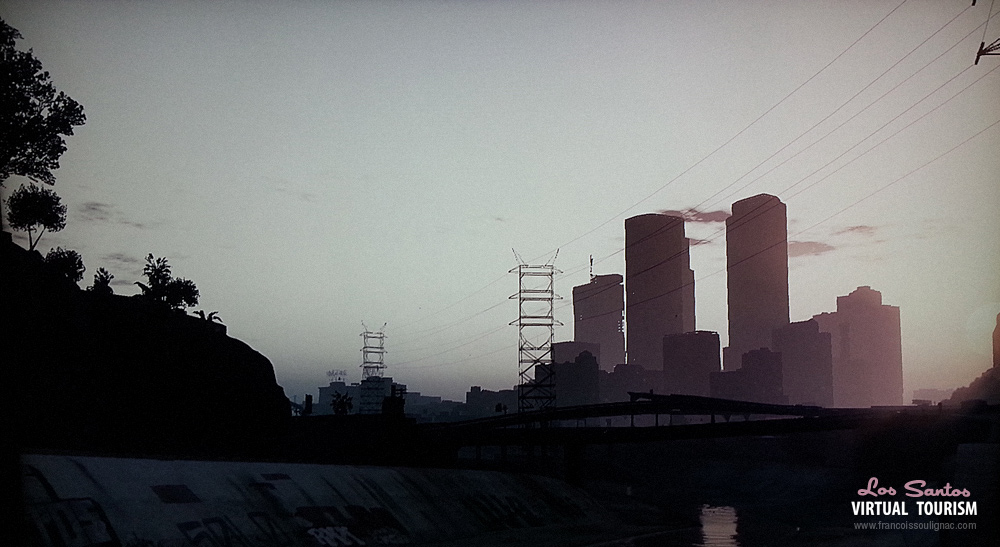 Francois Soulignac - Virtual Tourism in Los Santos - GTA 5 - View from sewers.