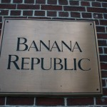Boston Shop Sign - Banana Republic