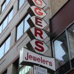 Boston Shop Sign - Rogers Jewelers