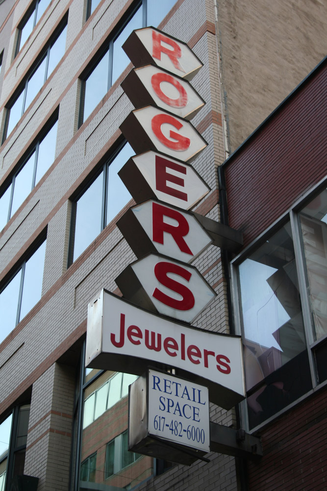 Boston Shop Sign - Rogers Jewelers
