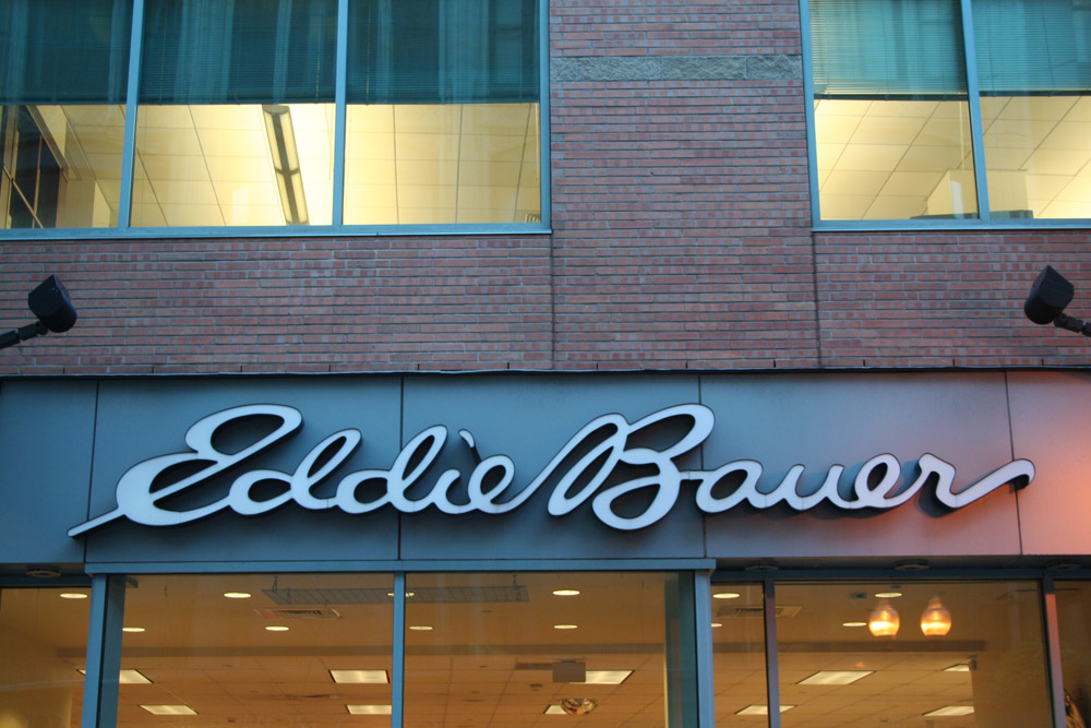 Boston Shop Sign - Eddie Bauer