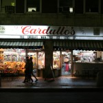 Cardullo's store front, Harvard Station, Cambridge