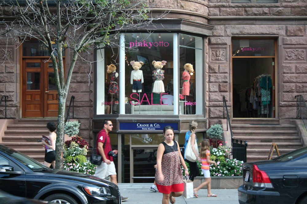 Boston Store Front, Pinkyotto, with bear in the showcase