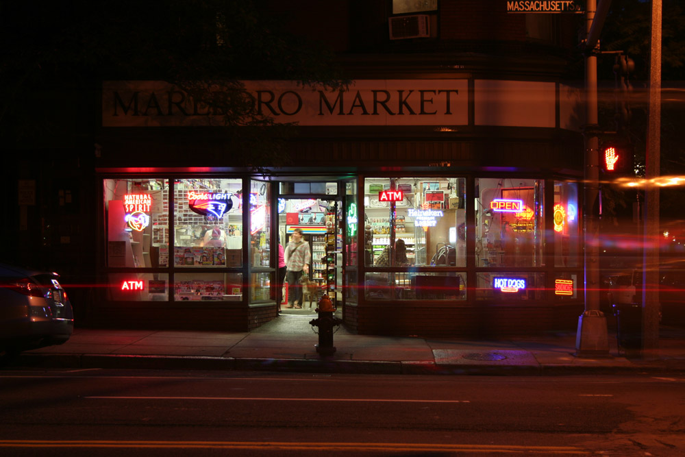 Boston Store Front, Marlboro Market, Massachusetts Street