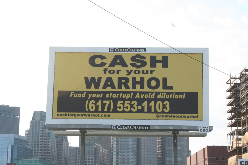 Boston Street Art - Cash for your Warhol