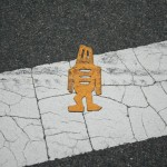 Boston Street Art - Yellow guy on the street