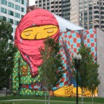 Boston Street Art - The Giant of Boston, Os Gemeos (detail zoom view from street)