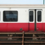 Boston Subway - MBTA red line - metro car