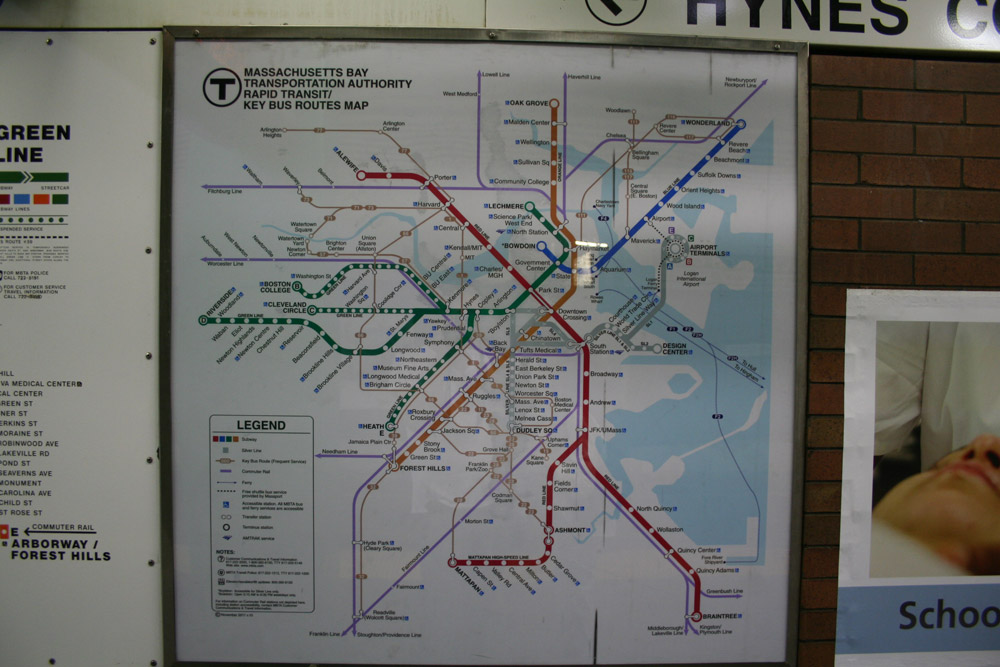 Subway Map Art Boston.Francois Soulignac Boston Subway And Commuter Rail Mbta Map