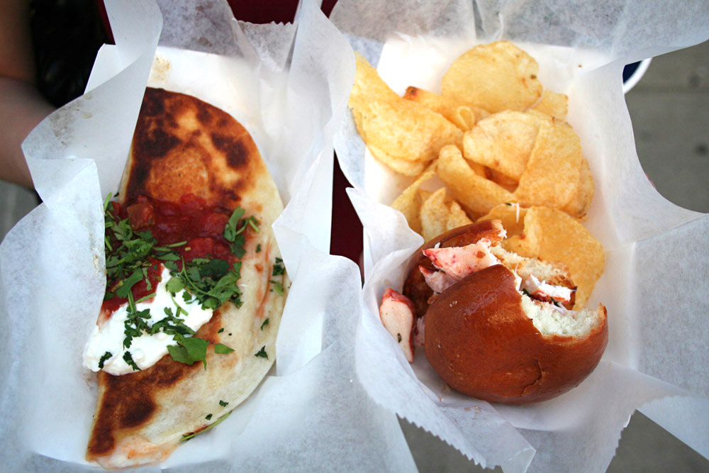 Boston food - Lobsta Love lobster mini burger