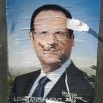 Paris Streets | Affiche François Hollande déchirée