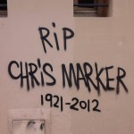 Paris Street Art - RIP Chris Marker 1921-2012 - Tag Graffiti on the wall