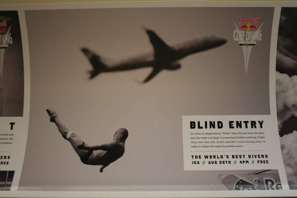 Boston Graphic Design, Red Bull Cliff Diving, Blind Entry, Subway August 212