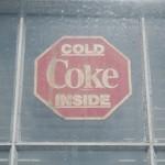 Boston Graphic Design, Cold Coke Inside vintage sign