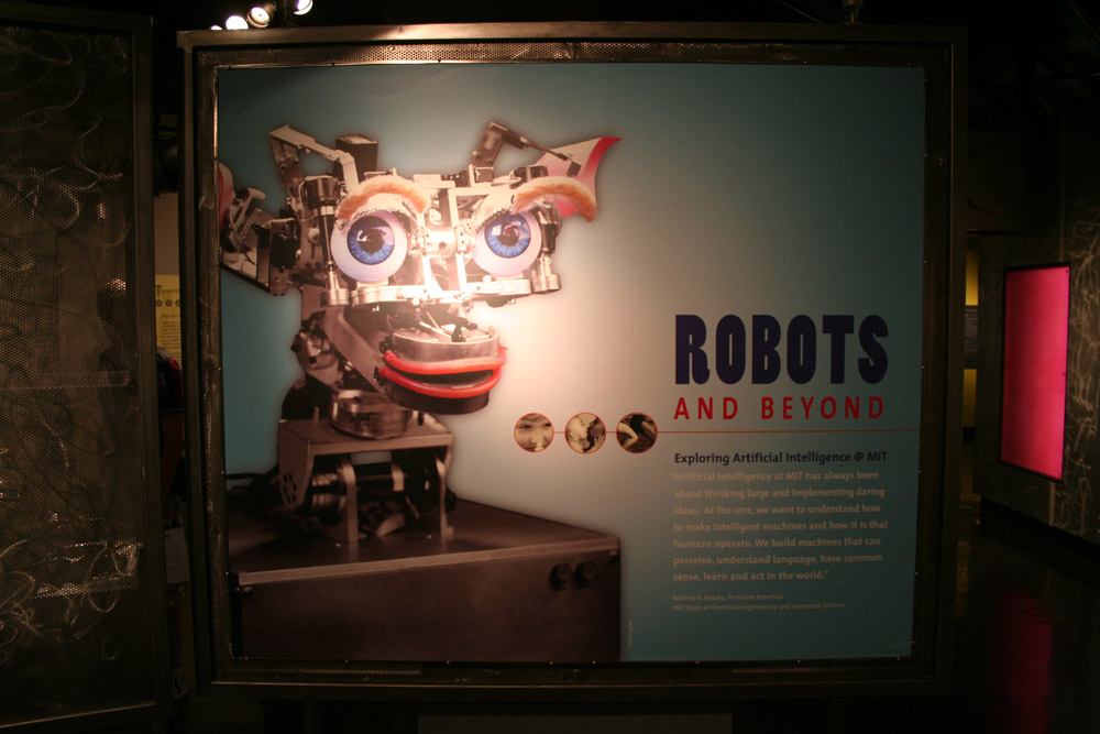 Cambridge Graphic Design, Robots and Beyond Cover MIT Museum exhibition, Exploring Artificial Intelligence at MIT