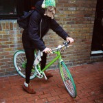 Francois Soulignac - London Streets, green bike fixie