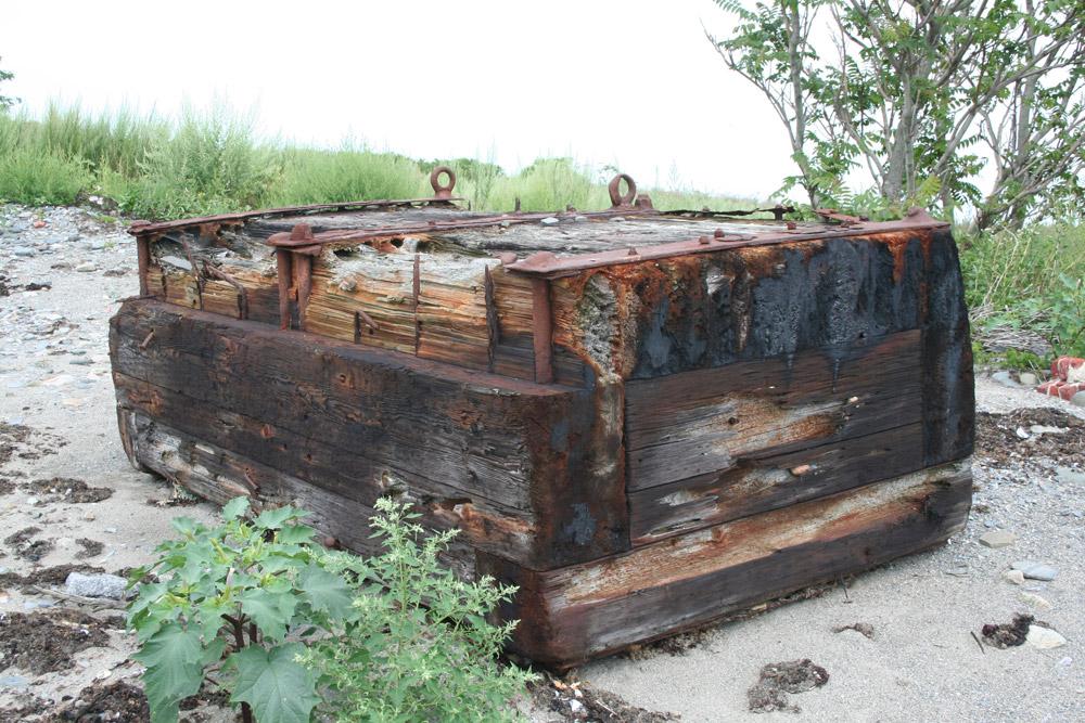 Francois Soulignac - Lovells Island - Piece of wood on the beach