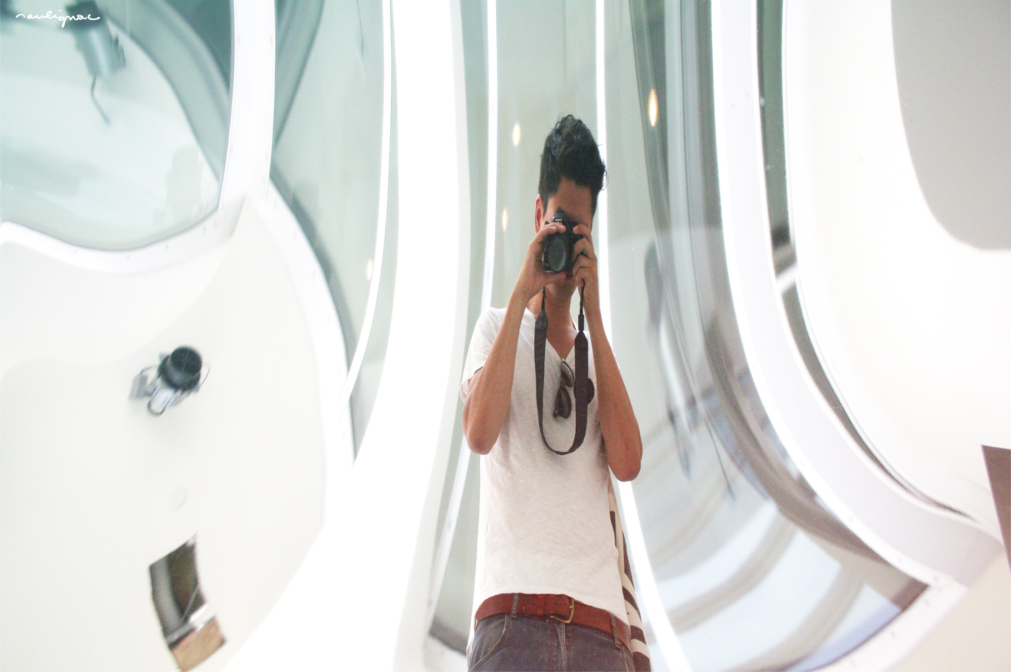 François Soulignac, Digital Creative, Art Director (Photo location: MIT - Stata Center Hall - Anish Kapoor Sculpture)