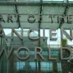 Museum of Fine Arts MFA Boston - Art of the Ancient World sign door