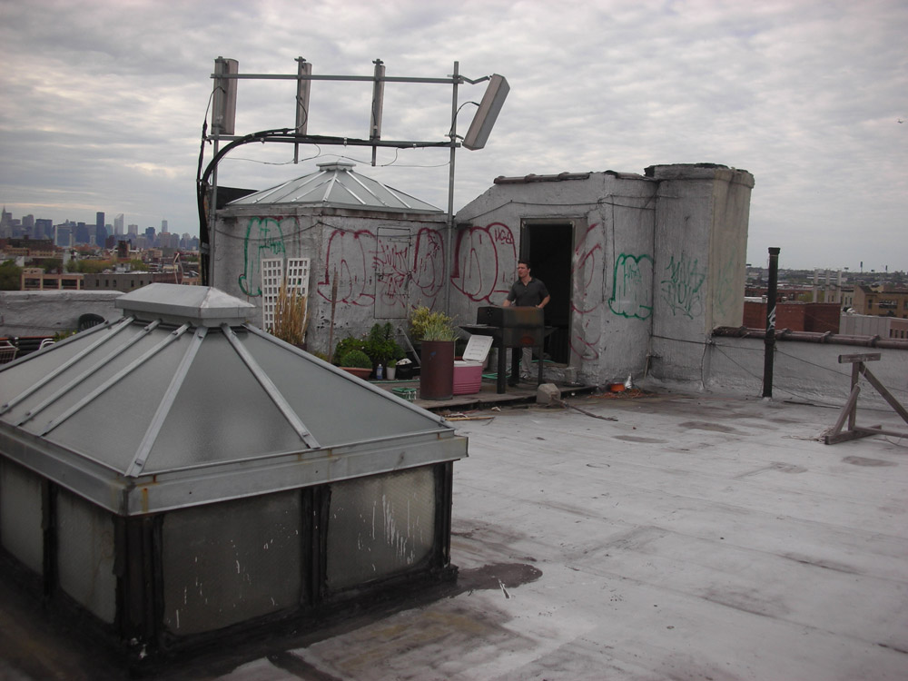 New-York Architecture, Brooklyn, Roof of old vintage building