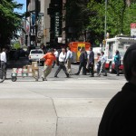 New-York Architecture, Manhattan, Streets, People, Road, Crosswalk