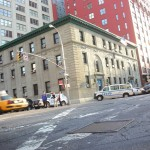 New-York Architecture, Manhattan, NYPD Police Station, Ericsson Place and Varick St