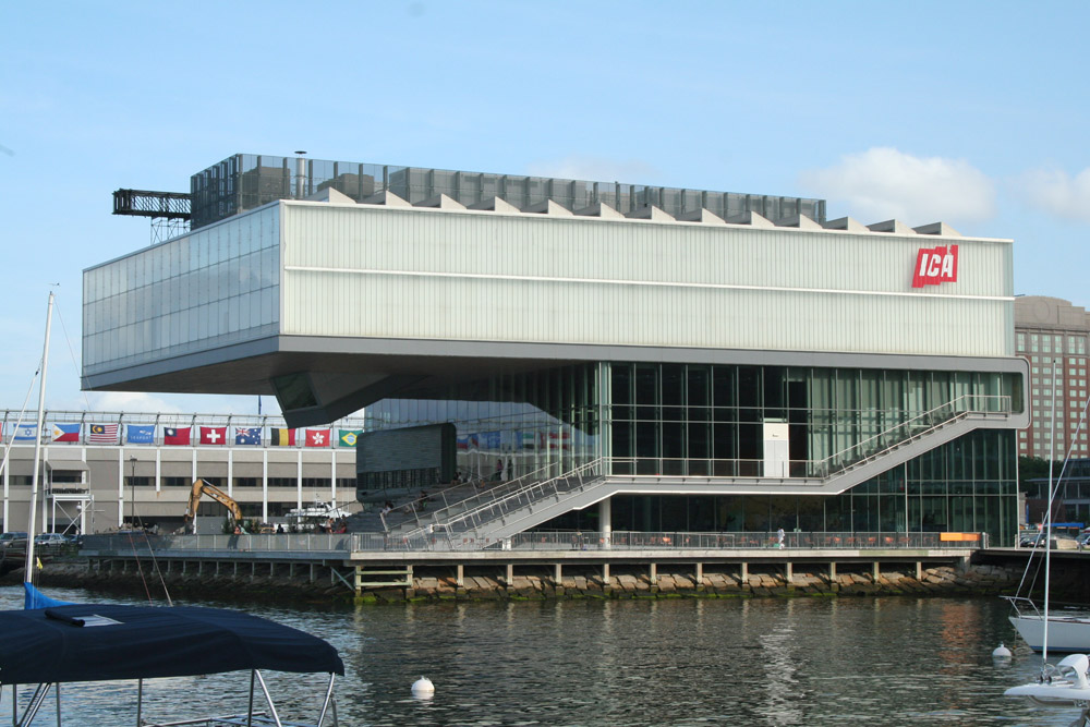 The Institute of Contemporary Art (Boston ICA) architecture, Front of ICA, view from harborwalk