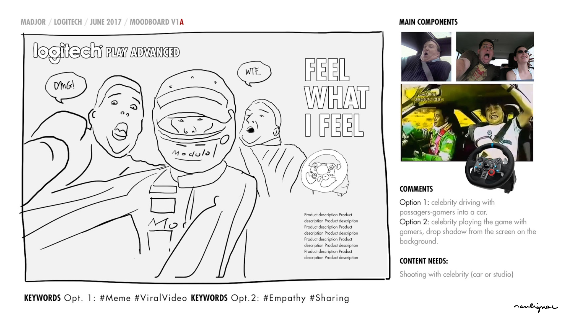 Logitech China - Global Campaign Keiichi Tsuchiya - FELL WHAT I FEEL - KEY VISUAL RESEARCHES & MOODBOARD - Francois Soulignac - Digital Creative & Art Direction - MADJOR Labbrand Shanghai, China
