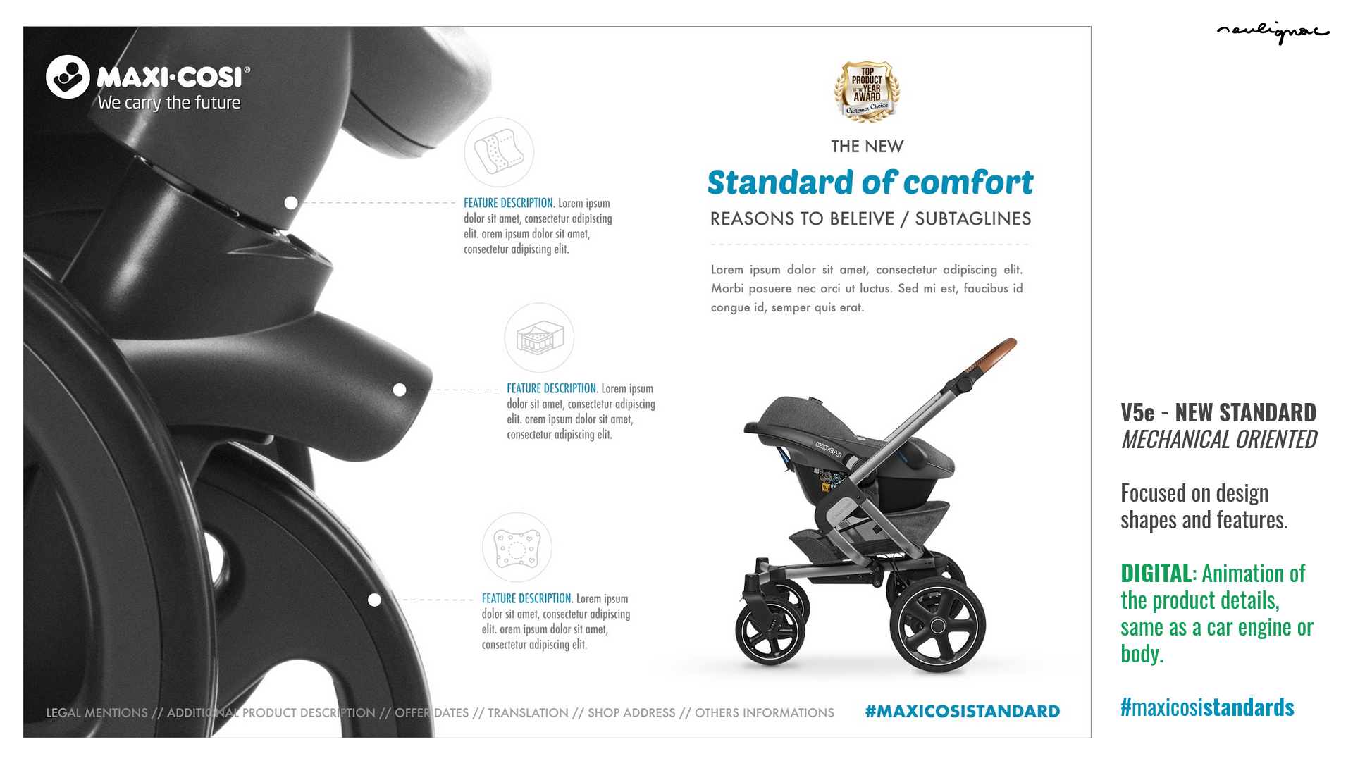 Maxi-Cosi China - Dorel Juvenile - Lila stroller key visual - Researches by François Soulignac, Digital Creative & Art Direction - MADJOR Labbrand Shanghai
