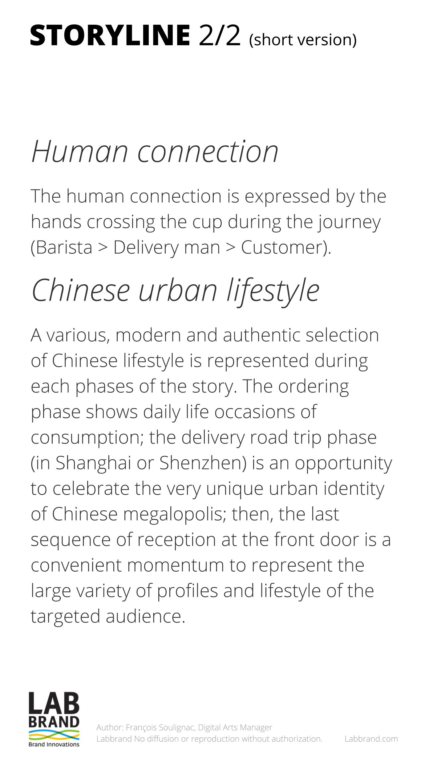 Starbucks China - Delivery Campaign - STORYLINE - Francois Soulignac - MADJOR Labbrand, Shanghai