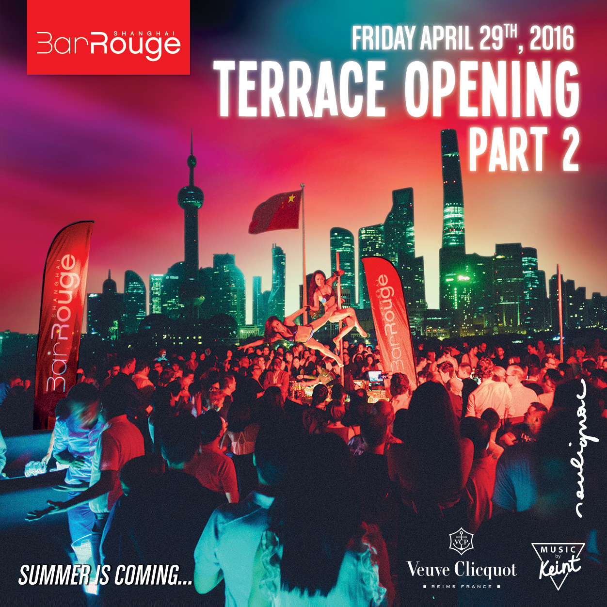 Bar Rouge Shanghai, François Soulignac, Terrace Opening Party, Creative & Art Direction for VOL Group China