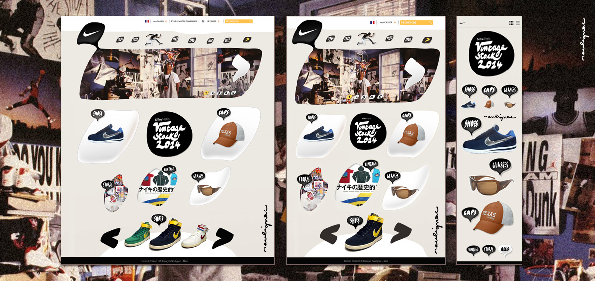 Francois Soulignac - Nike Vintage - Responsive Web Design (RWD) - Three model