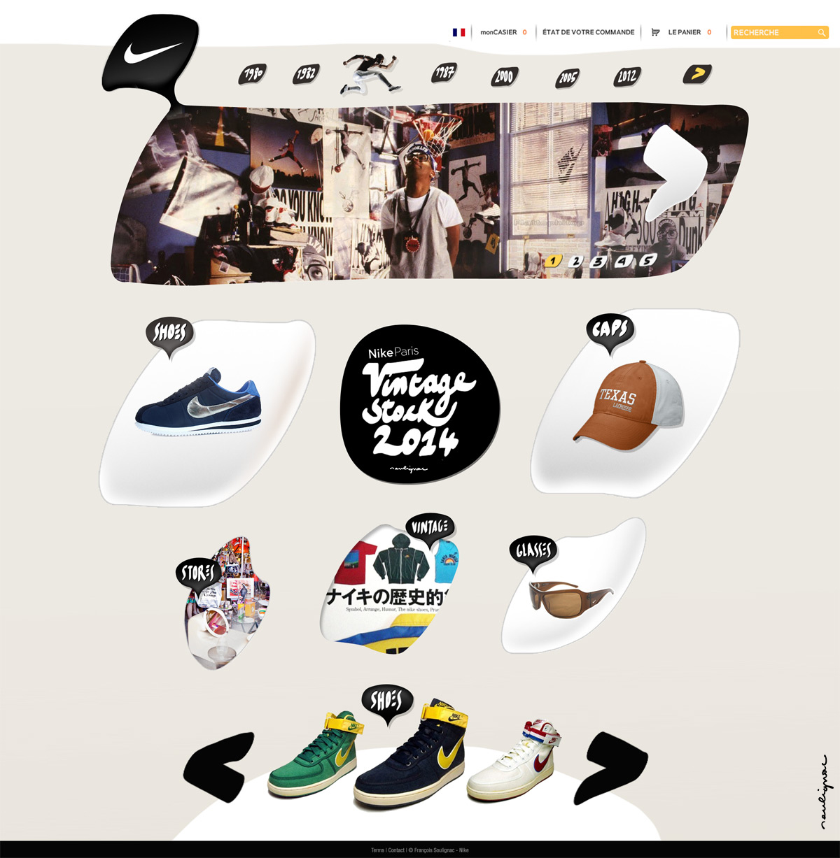 Francois Soulignac - Nike Vintage - Responsive Web Design (RWD) - medium width