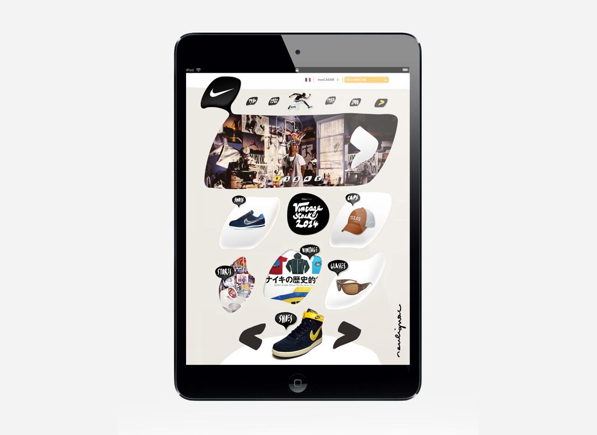 Francois Soulignac - Nike Vintage - Responsive Web Design (RWD) - Medium width (Ipad)